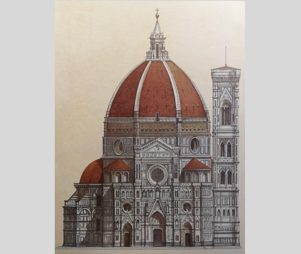 poster con paesaggi urbani di Firenze